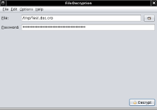 Fileencryption Screenshot: Decryption