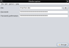 Fileencryption Screenshot: Encryption